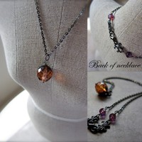 Amber Glow Necklace - Distressed Cz.. on Luulla