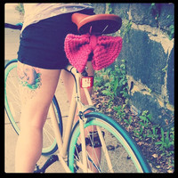 Thunderbolt Bike Seat Bow by MischiefManagedKnits on Etsy