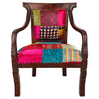 One Kings Lane - Exotic Winter Escape - Jaipur Chair, Patchwork