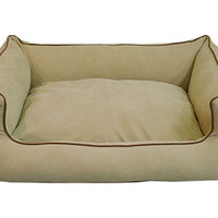 One Kings Lane - Preppy Pets - Microfiber Kuddle Lounge, Linen