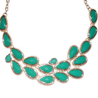 Bridal Bib Necklace : Seafoam Teardrop Baubles