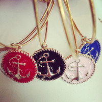 All Aboard Anchor Bangle (choose one from 5 colors)