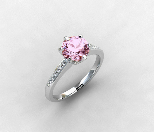 Pink spinel ring light pink gemstone from TorkkeliJewellery on