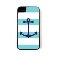 Amazon.com: iPhone 4 Case - Hardshell Protective iPhone 4/4s Case - Aqua Nautical: Cell Phones &amp; Accessories