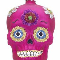 Buy Personalized Day of the Dead Skull - Pink - Halloween Ornaments, Halloween Tree Ornaments, Thanksgiving Ornaments - Ornament Shop