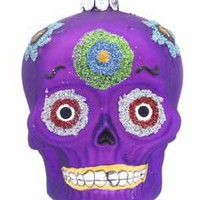 Buy Personalized Day of the Dead Skull - Purple - Halloween Ornaments, Halloween Tree Ornaments, Thanksgiving Ornaments - Ornament Shop