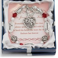 Love, Grandmother, Forever Silver &amp; Crystal Expressively Yours Bracelet: Jewelry: Amazon.com