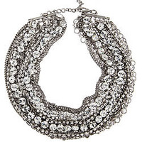 ABS Multi Row Torsade Necklace - Max and Chloe