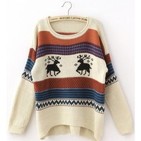 **Free Shipping* Women Beige Sweater  Free Size TA135 from MaxNina