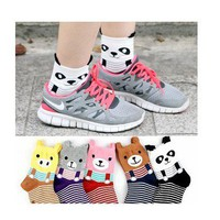 The Korean Bear stripes Stereo cute cartoon socks socks socks from Fashion Accessories Store