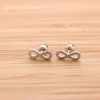 matt INFINITY stud earrings, 3 colors | girlsluv.it