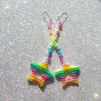 Magical Rainbow Star Earrings II