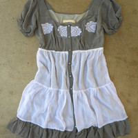 Ruffled Heartland Dress [3045] - $26.94 : Vintage Inspired Clothing & Affordable Fall Frocks, deloom | Modern. Vintage. Crafted.