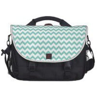 Cockatoo - Green Mint And White Zigzag Chevron Bags For Laptop