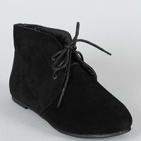 Cambridge-17H Suede Lace Up Ankle Bootie