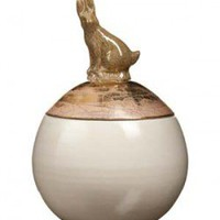 GOLD AND HARE SUGAR BOWL