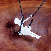 MADE TO ORDER - Sterling Silver Swinging Pinup Girl