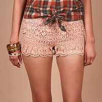 Moulin Lace Shorts - Lace Shorts at Pinkice.com