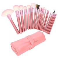 Amazon.com: 22pcs Professional Cosmetic Makeup Brush Set with Pink Bag Pink: Beauty