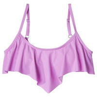 Junior's Ruffle Bandeau Swim Top -Lilac