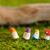 Three Tiny Gnome with one Tiny Mushroom by poplaucard on Etsy