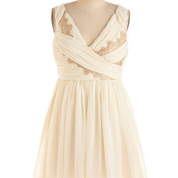 Gilded Grecian Dress | Mod Retro Vintage Printed Dresses | ModCloth.com