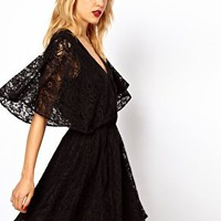 Lace Dress With Cape Back