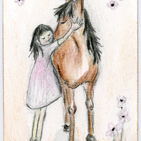 Original ACEO Give me a hug by zirkulas on Etsy