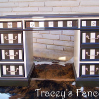 Custom Painted Desk by TraceysFancy on Etsy