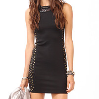 Studded Scuba Scoop Dress