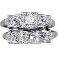 The Felicity Ring Set in 14K White Gold