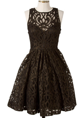 Frock by Tracy Reese Stella Black Goldfoil Dress