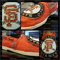 Customized Bling Sports Shoes- San Francisco Giants