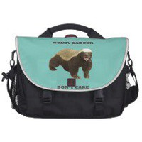 Cockatoo Mint Honey Badger Don&#x27;t Care Pattern Laptop Bag
