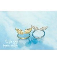 Fashion Silver Angel wings Cocktail Ring at Online Cheap Fashion Jewelry Store Gofavor