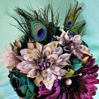 Peacock Wedding Flowers, Purple Si.. on Luulla