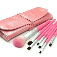 7pcs Brush Set from 120 EYESHADOW PALETTE