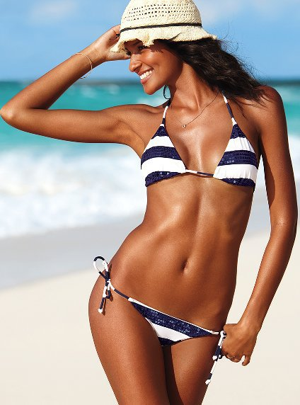 Sequined Striped Triangle Top - Beach Sexy?- - Victoria&#x27;s Secret