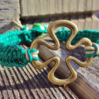 Four Leaf Clover Bracelet Irish Jewelry Lucky Made To Order