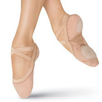 Pro Elastic Split-Sole Canvas Ballet Shoe; Bloch