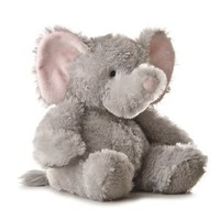Amazon.com: Aurora Plush 12 inches Elephant Tubbie Wubbie (Light Grey): Toys & Games