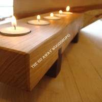 Black cherry and walnut tea light candle by TheGoAwayWoodshop