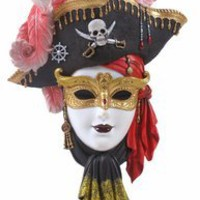 Pirate Mask Wall Plaque - Wall Art - Wall Decor - Home Decor