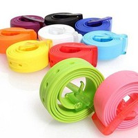 Colorful belt for women and men (multi color) from Fashion Accessories Store
