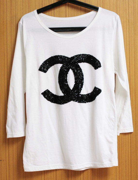 chanel t shirt damen chanel t shirt damen online kaufen. Black Bedroom Furniture Sets. Home Design Ideas