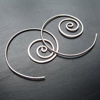 Sterling Silver Unraveling Earrings by ArtistiKat on Etsy