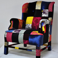wings armchair patchwork by namedesignstudio on Etsy