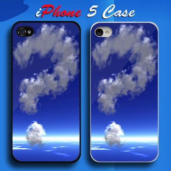 Unique Cloud Question Mark at Blue Sky Custom iPhone 5 Case Cover from namina
