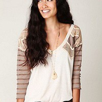 Free People Clothing Boutique > Warrior Chief Crochet Back Top