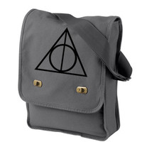 Deathly Hallows Messenger Bag Harry Potter by bagnabitcreations